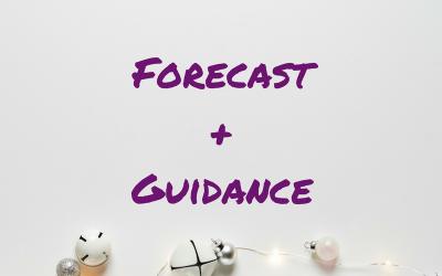 December 2017 Forecast + guidance